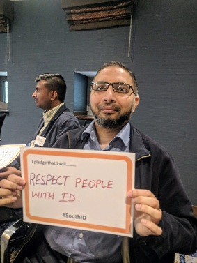 I pledge that I will respect people with ID